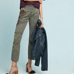 Anthropologie The Wanderer Beaded Cargo Pant
